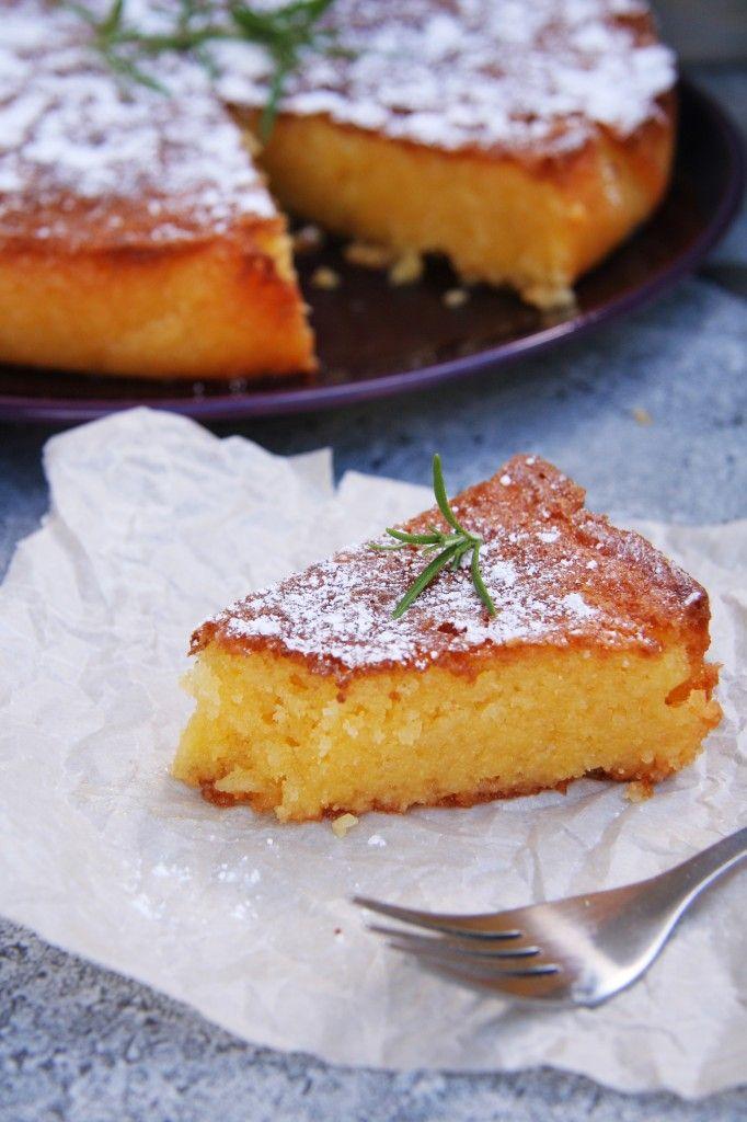 Rosemary Lemon Semolina Cake | Dessert ideas | Pinterest