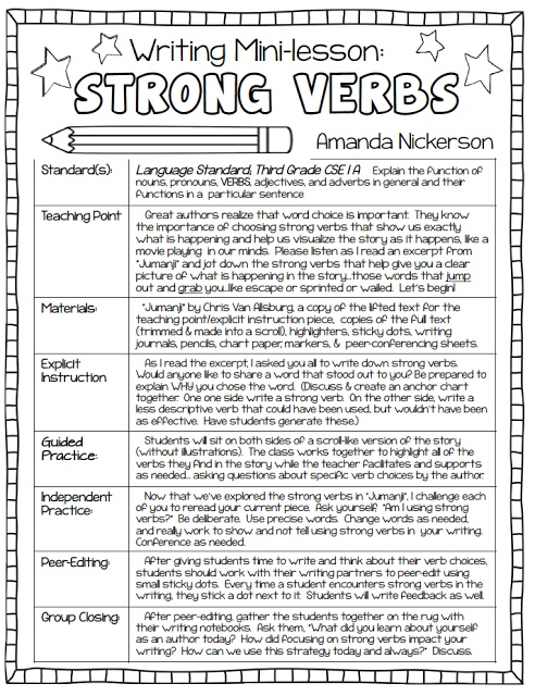 lesson plans for narrative writing