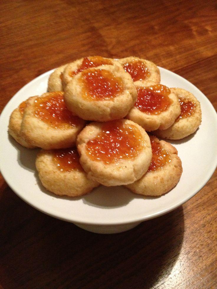 Apricot Jam Thumbprint Cookies | Holly Jolly Christmas | Pinterest