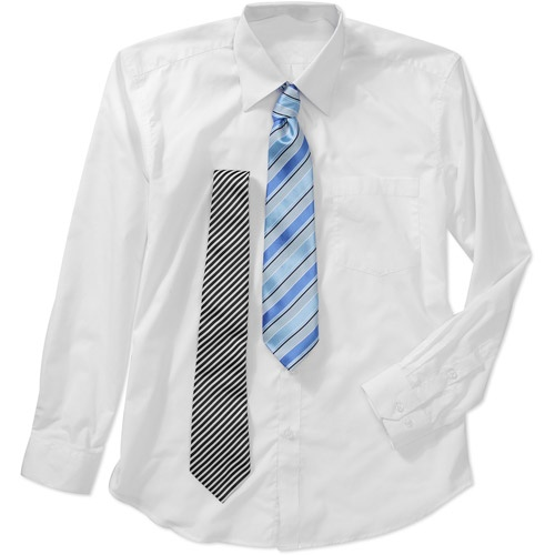 men 39 s dress shirts with 2 matching ties