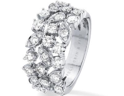 Bague Feuillage Diamants et Brillants S'entrelacent