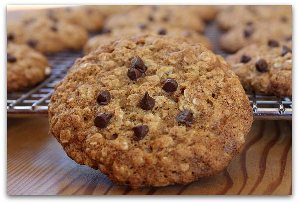 Pretty Darn Good Low Fat Oatmeal- Chocolate Chip Cookies