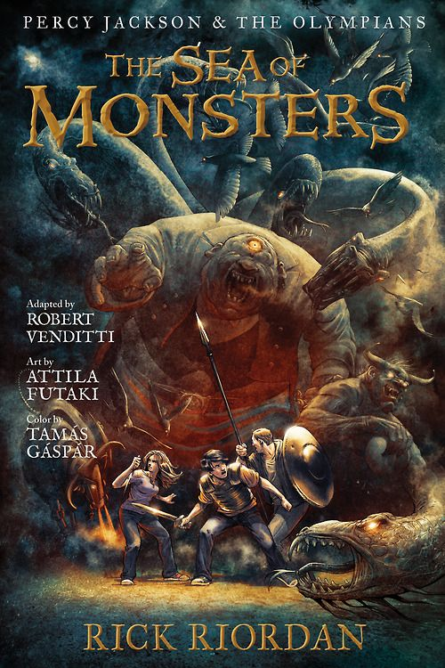 Graphic novel cover | Percy Jackson: The Sea of Monsters ...