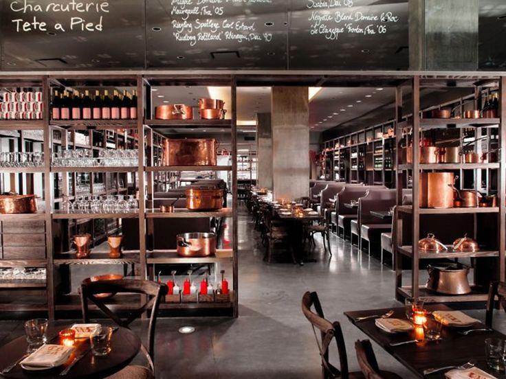 ... Bar East Village: Modern Restaurant Interior Design DBGB Kitchen Bar