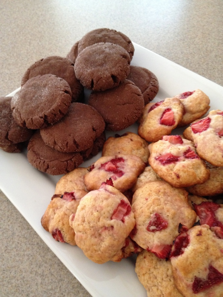chocolate peanut butter surprise cookies and strawberry shortcake ...