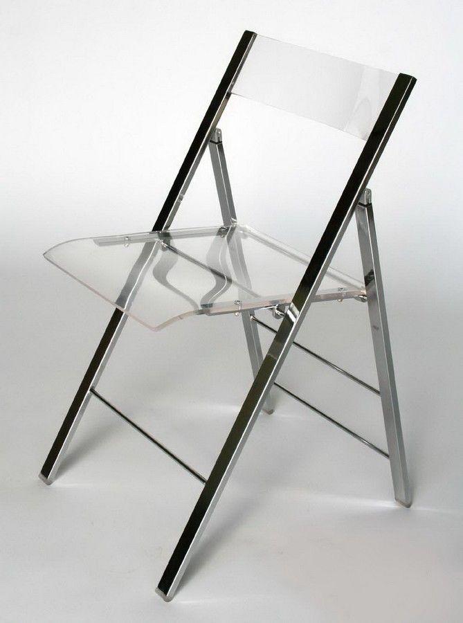 Baxton Studio Acrylic Foldable Chair