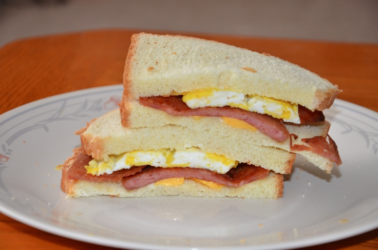 Spam Bacon and Egg Sandwich | Sandwiches ~ Sliders ~ Wraps | Pinterest