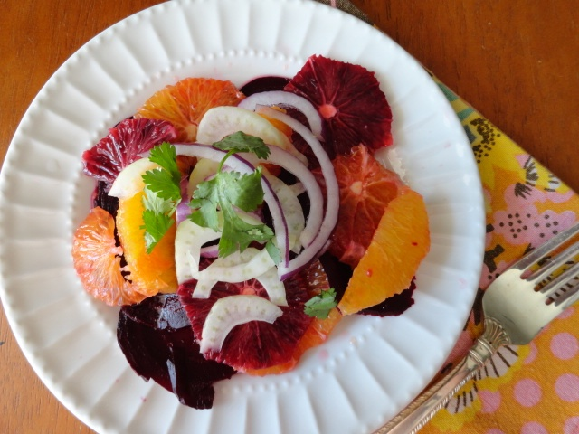 Blood Orange, Beet, and Fennel Salad: I made this beautiful salad to ...