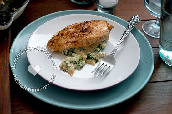 Chicken Breasts Stuffed with Creamy Spinach and Onion   Recipe