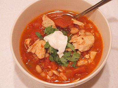 Chipotle chicken n tomato soup
