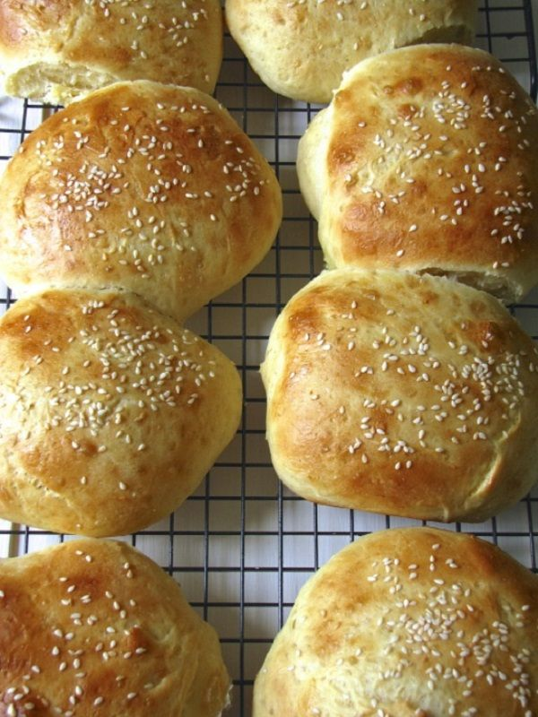 Light Brioche Burger Buns | Recipes - Breads | Pinterest