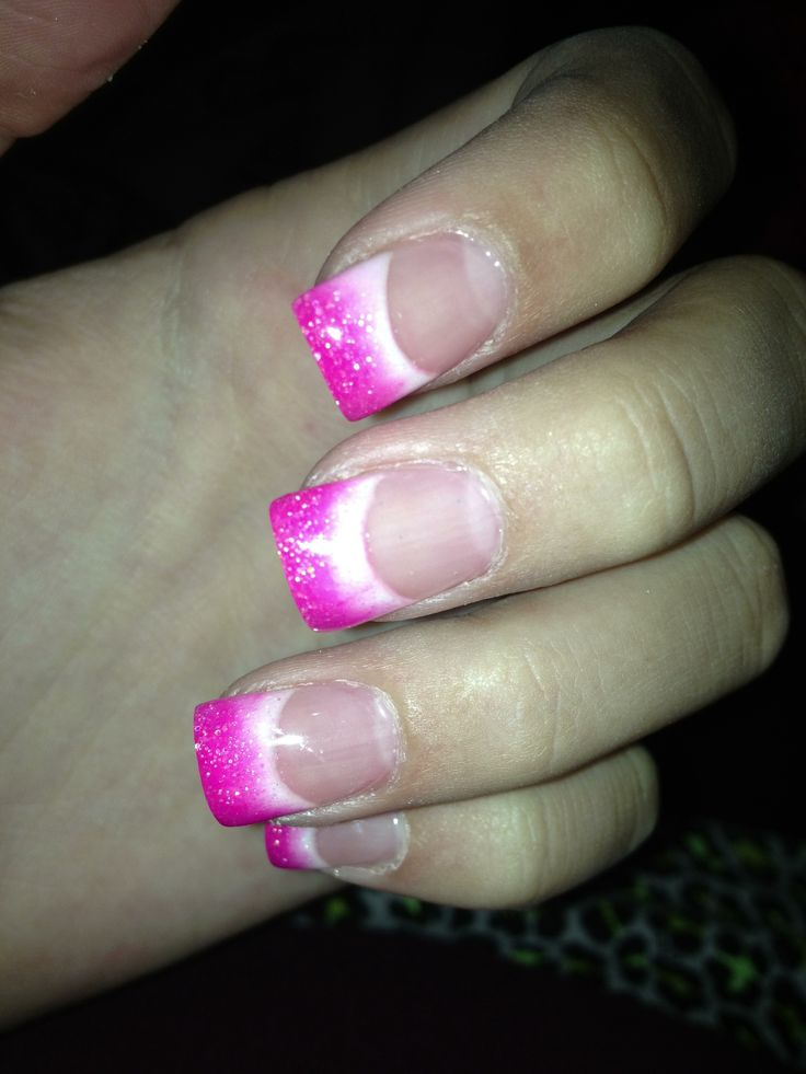 acrylic nails pink ombre hair and beauty pinterest