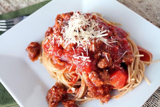 Spaghetti Sauce with Italian Sausage | Food | Pinterest