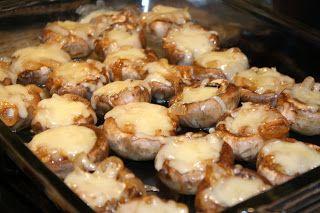 French Onion Soup Stuffed Mushrooms | Appetizers-Mushrooms | Pinterest