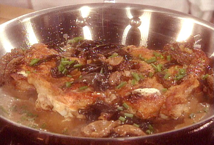... Cheese Stuffed Chicken with Wild Mushroom Sauce from FoodNetwork.com