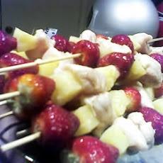 Simmering Chicken Strawberry Kabobs Recipe