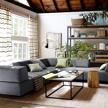 Tillary r 8 piece sectional for West elm living room ideas