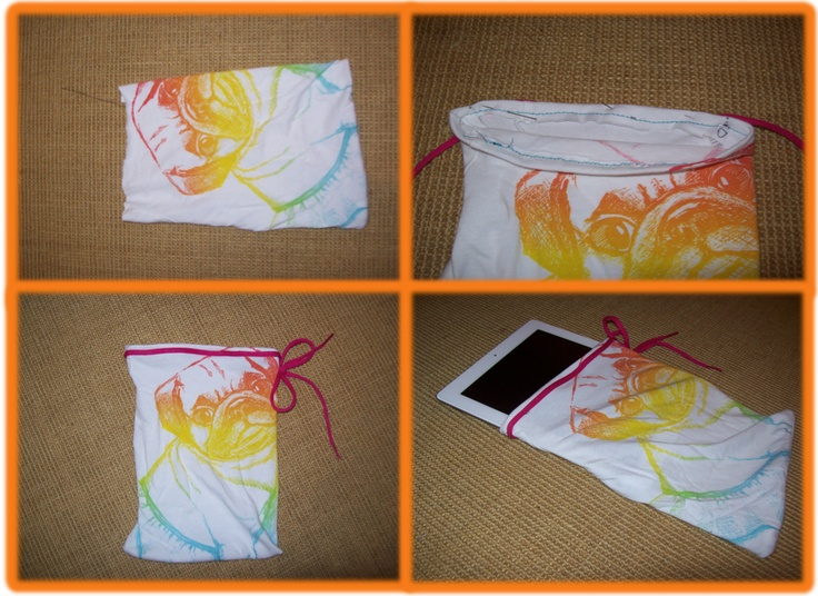 How To Transform An Old T-Shirt Into A Cute iPad Case!