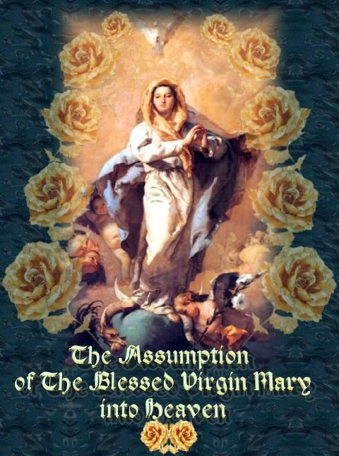 August 15 1988 feast of the assumption i the lord bless you