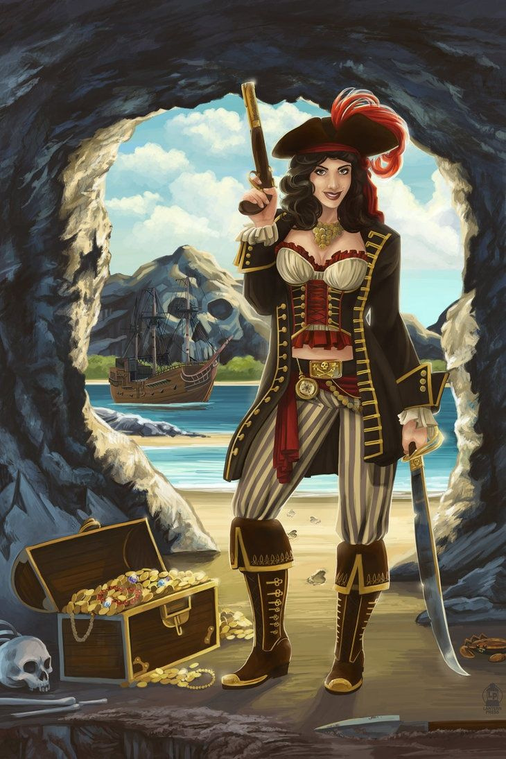Pirate girl pin up drawing - photo#16