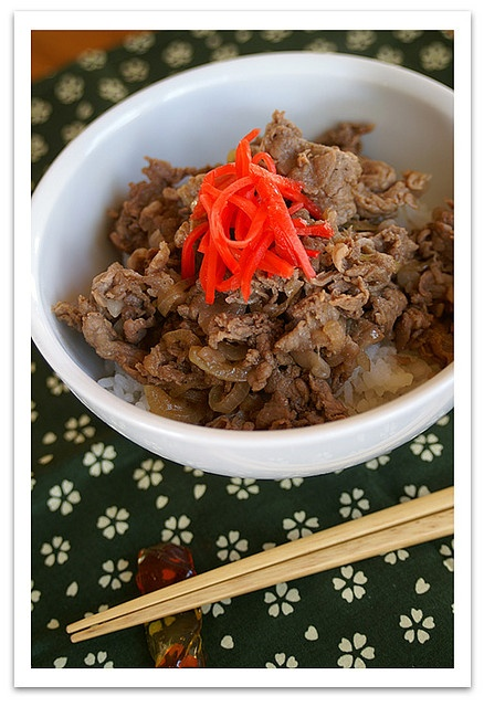 Recipe for Japanese Beef Bowl - Gyudon (Japanese Beef Bowl) is kind of ...