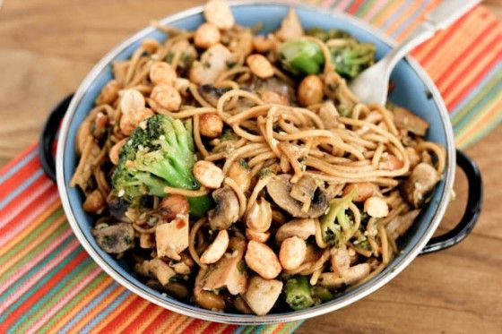 Spicy Peanut Noodle Stir-Fry- I made this last night, and it was ...