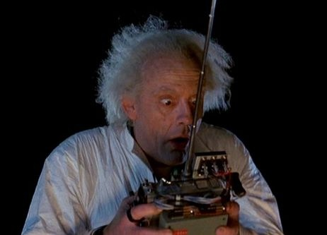 Doc emmett brown christopher lloyd from the quot back to the future