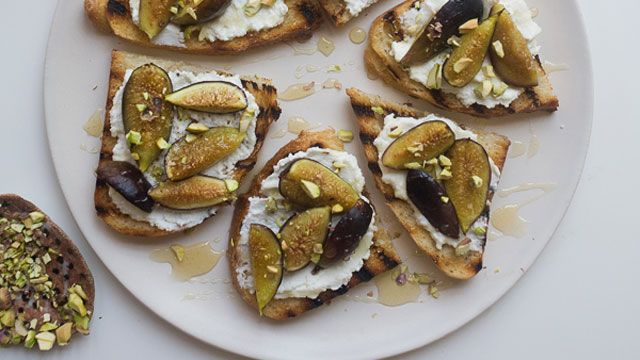 Roasted Fig and Ricotta Crostini Recipe | Fresh Tastes Blog | PBS Food