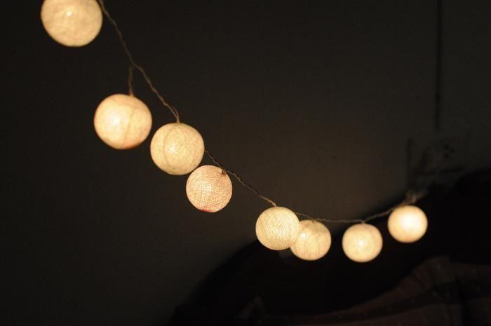 String Lights Balls : Hanging String Of Light Balls industrial lights + vintage fans Pi?