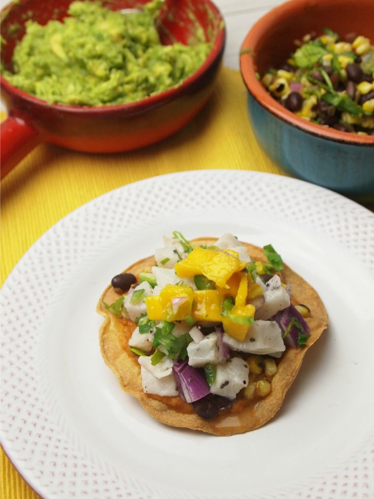 Ceviche Tacos with Black Bean and Corn Salsa | Recipe