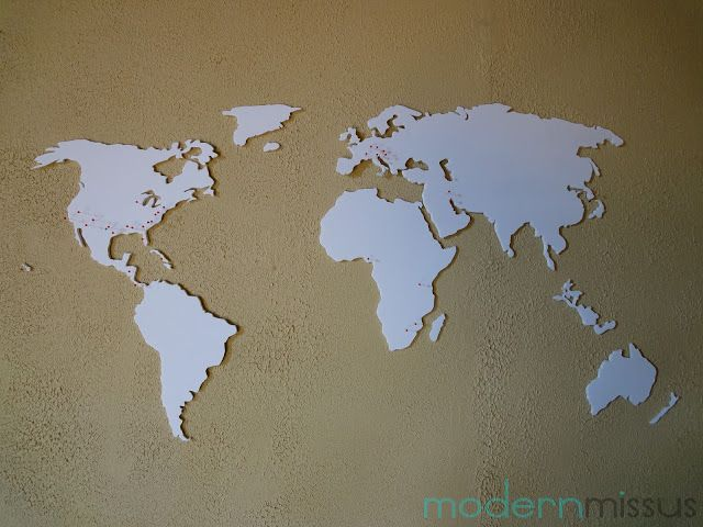 DIY World Map Wall Art DIY Pinterest