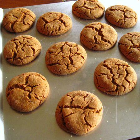 Baked Ginger Crinkle Cookies | Baking | Pinterest