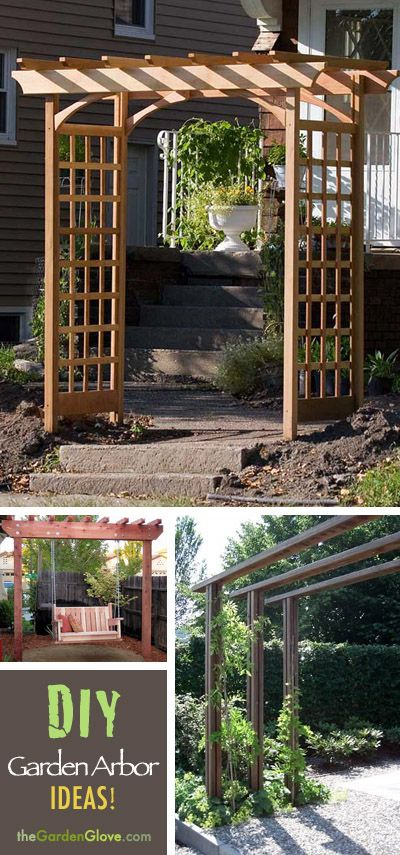 Diy garden arbor ideas outdoor projects with plans for Garden arbor designs