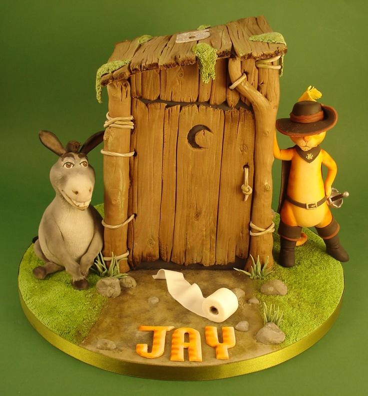 Shrek Cake (Puss in Boots & Donkey)