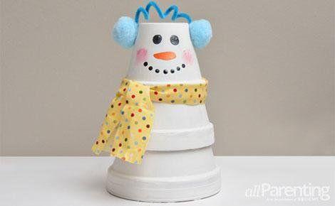 DIY stacked pot snowman | snowman | Pinterest