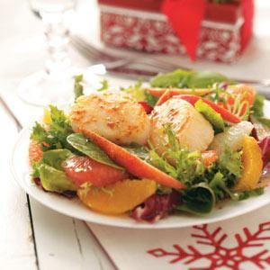 Salads: Citrus Scallop Salad Recipe   Soup and Salad Recipes   Pinter ...