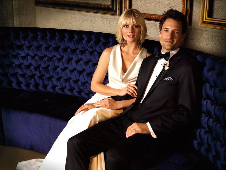 This classic tuxedos is fabulous for a black tie wedding. #weddings #tux #menswearhouse