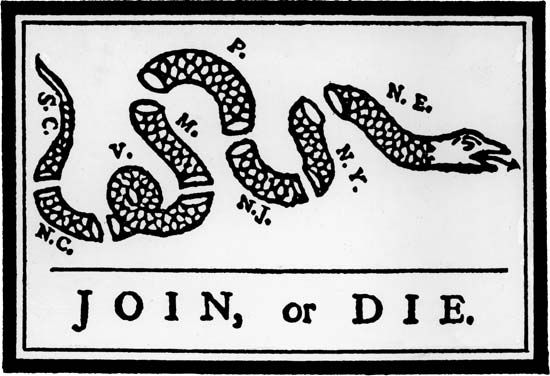 Join Or Die Snake Only Join or Die! | Militar...