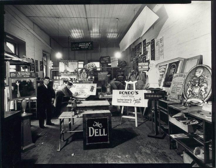 look inside an old sign shop handlettered amp sign