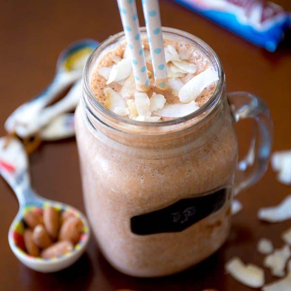 Almond Joy Milkshakes. Creamy, decadent tasting chocolate milkshake ...