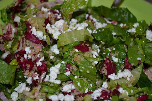 Quinoa Salad With Avocado Radicchio Salad...