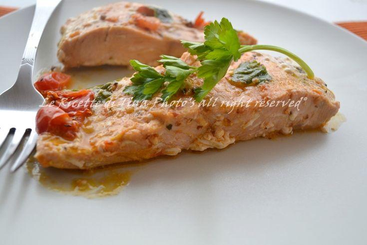 Salmone fresco in padella