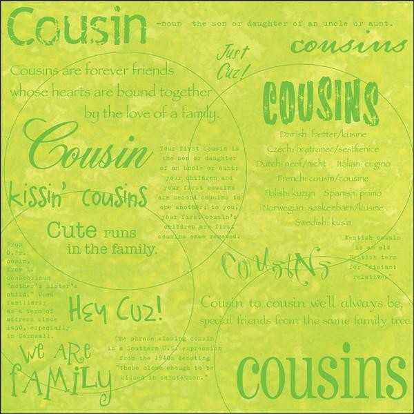 Cousin Quotes For Scrapbooking - 103.2KB