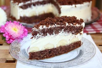 miremirc...bucataria in imagini: Tort de ciocolata si banane