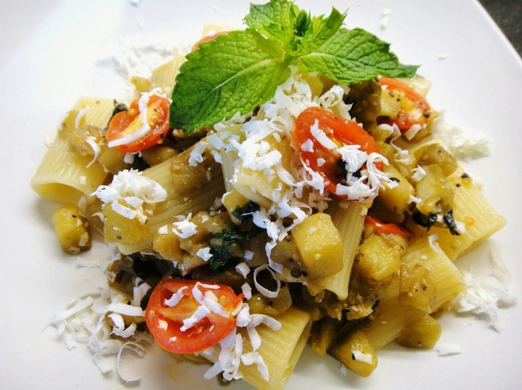 eggplant with tomato garlic and mint recipes dishmaps garlic and mint ...