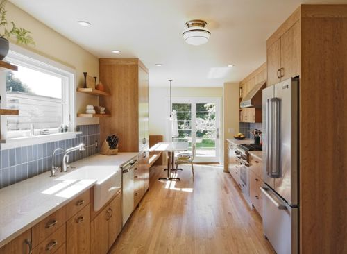 really like the materials in this kitchen
