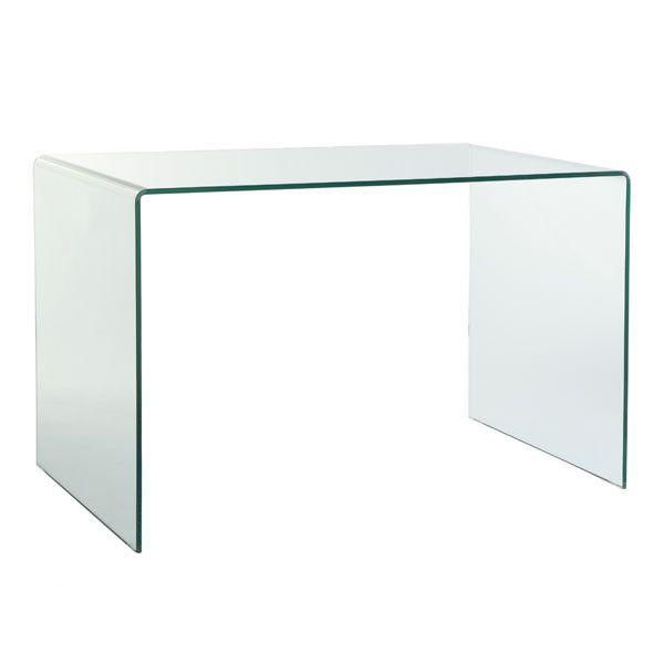 Glass desk name bar