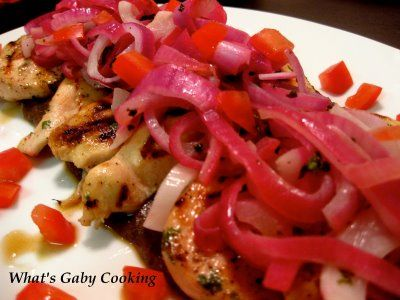 Grilled Lime Chicken with a Black Bean Sauce | What's Gaby Cooking