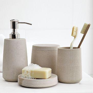 stoneware bath accessories westelm things pinterest