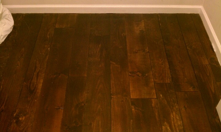 Pin by terell on studio ideas pinterest for Pine floors stained dark